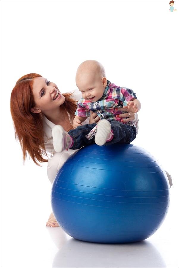 Fitbol-Vorteile für Neugeborene