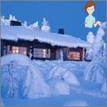 Ruhe in Finnland im Winter