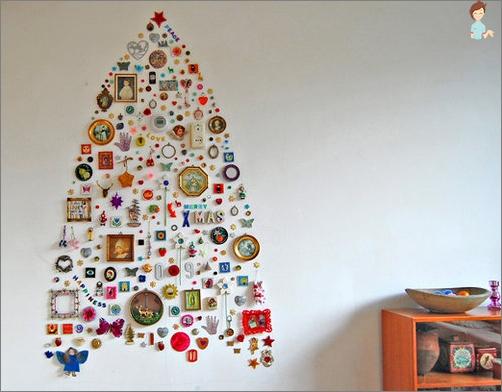 شجرة عيد الميلاد البديلة من المنسوجات