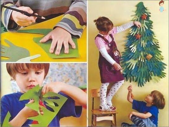 شجرة عيد الميلاد البديلة - لوحة على الحائط