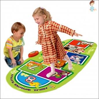 Tanzteppich - ein interessantes und nützliches Spielzeug für Kinder