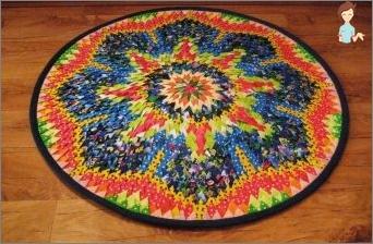Wie erstellt man Teppiche von Patchwork mit deinen eigenen Händen?