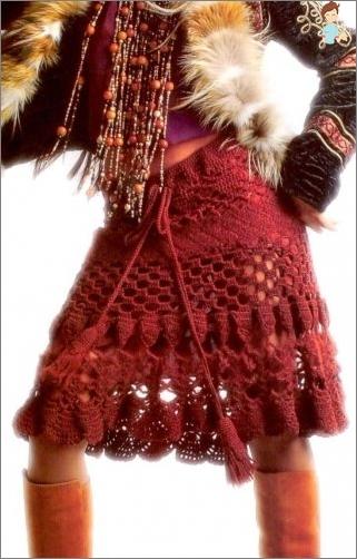 كيفية ربط تنورة جميلة من الكروشيه؟