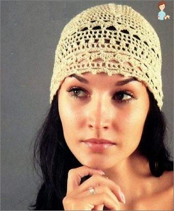 متماسكة الكروشيه: قبعة الصيف لفتاة