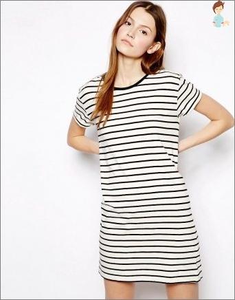 T-Shirt Kleid: Wie man es schön näht