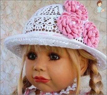 Hüte für gehäkelte Mädchen. Varianten von Models und Stricksystemen