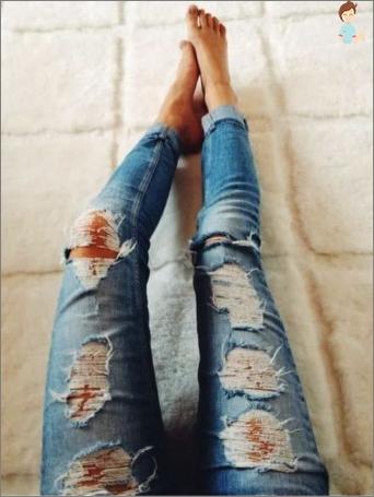 In ein paar Minuten stilvolle Jeans machen