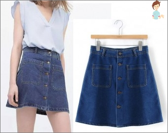 We spend old jeans in the skirt