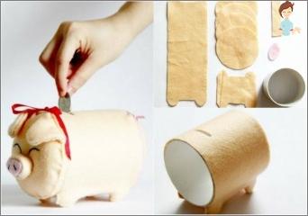So machen Sie ein Sparschwein mit Ihren eigenen Händen: Original Geschenkideen