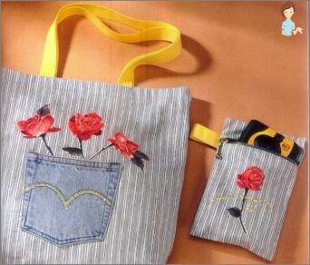 كيفية خياطة حقيبة يد مصنوعة من شعر وحقيبة الدنيم للفتاة تفعل ذلك بنفسك؟