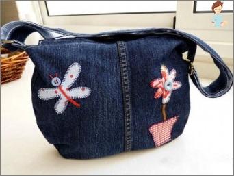 So nähen Sie eine Handtasche aus Filz und einer Jeanshandtasche für das Mädchen, das Sie selbst tun?