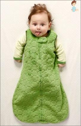 Schlafsack für Neugeborene mit ihren eigenen Händen: Eine unverzichtbare Sache in der Garderobe