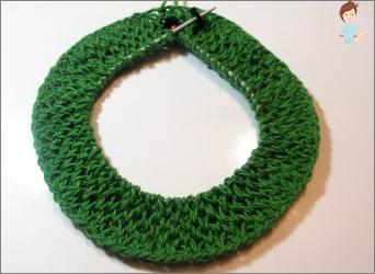 Wie kann man einen Sneodieren binden? Stricken von Pullover mit kreisförmigen Speichen ohne Nähte