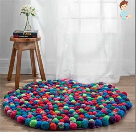 How to make a rug from pumps with their own hands?