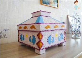 Original ideas for decorating the box with your own hands