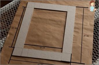 Wir machen einen Rahmen von Pappe mit eigenen Händen