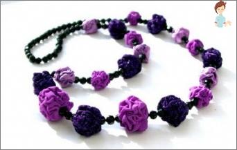 Geheimnisse und Ideen zur Herstellung von Perlen von Stoff mit ihren eigenen Händen