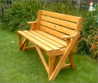 Benches for the cottage: Mastery with your own hands