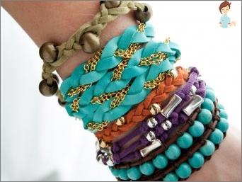 Bracelets do it yourself - weave original decorations