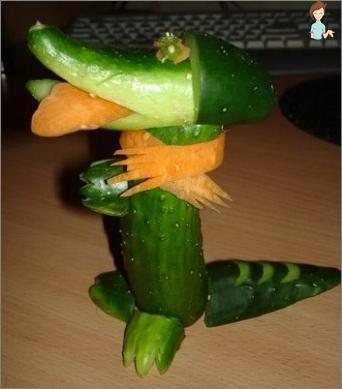 Kunsthandwerk aus Gemüse: Warum brauchen sie?