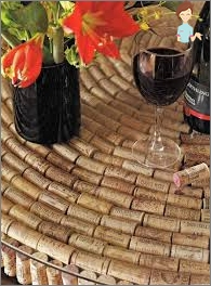 Corks from wine bottles: use options