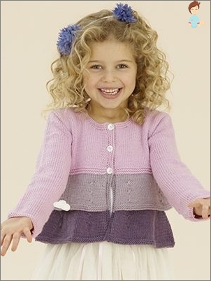 Knitting sweatshirts for girls with knitting needles: Popular Sticks and Running Rules