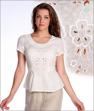 Features of embroidery Richelieu