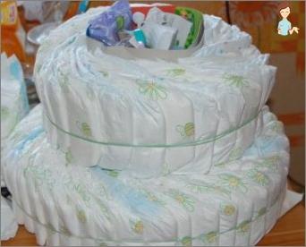 Wie man einen schönen Kuchen von Windeln herstellt