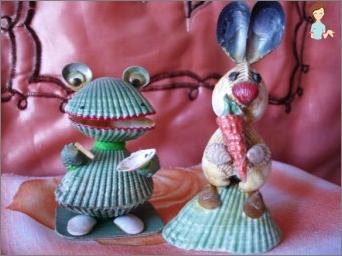 Crafts from seashells - Beautiful memories of summer