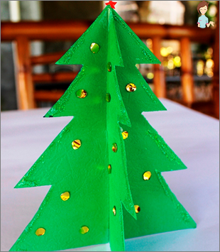 New Year's decorations make a paper with your own hands
